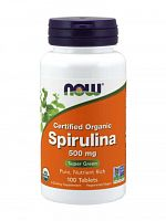 NOW Spirulina 500 mg, 100 tabs