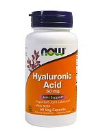 NOW Hyaluronic Acid 50 mg +MSM, 60 капс.