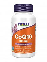 NOW CoQ10 30 mg, 60 vcaps